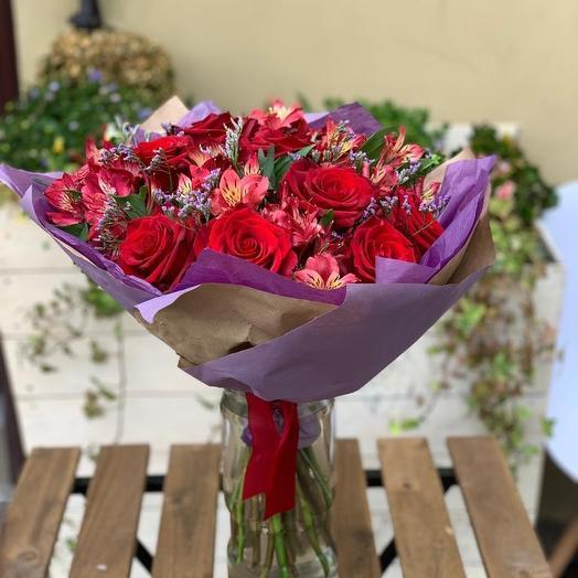 Алый закат: букеты цветов на заказ Flowwow