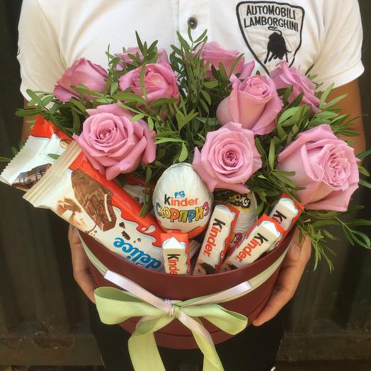Киндер сюрприз: букеты цветов на заказ Flowwow