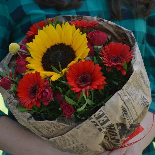 "Букет цветов ""И снова в школу"": букеты цветов на заказ Flowwow"