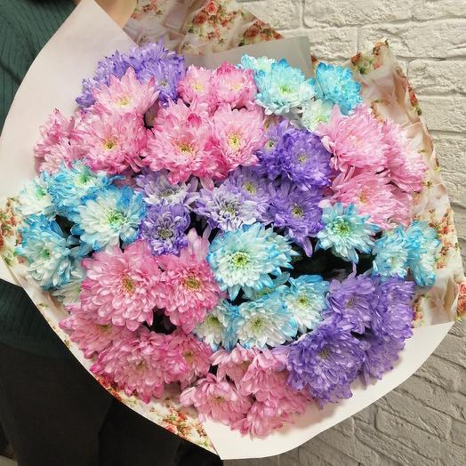 Огромный букет яркой хризантемы: букеты цветов на заказ Flowwow