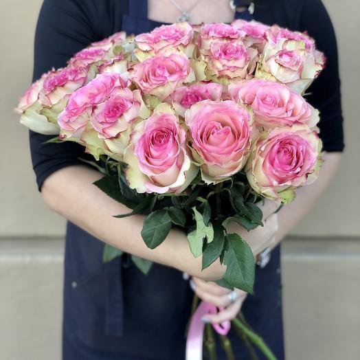 19 розовых роз Эсперанса: букеты цветов на заказ Flowwow