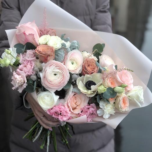 Палитра «Розовый блюз»: букеты цветов на заказ Flowwow