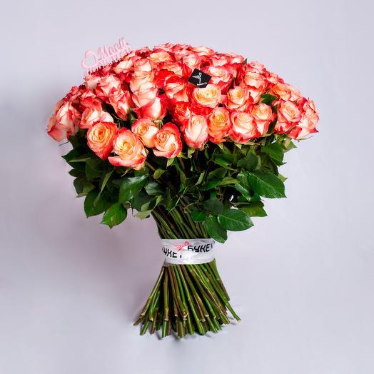 """101 роза """"Моей любимой"""" в букете"""
