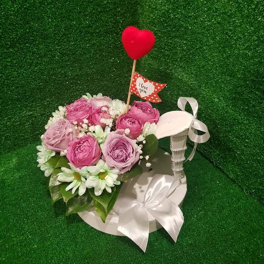 Туфелька с цветами: букеты цветов на заказ Flowwow