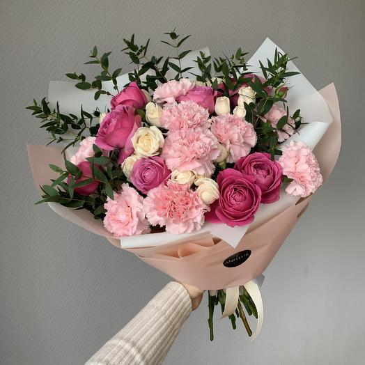 """Букет """" Малиновый десерт"""": букеты цветов на заказ Flowwow"""