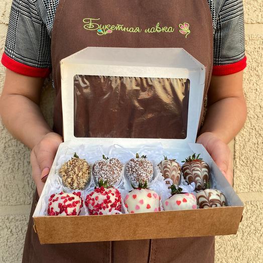 Набор клубника в шоколаде (10шт)