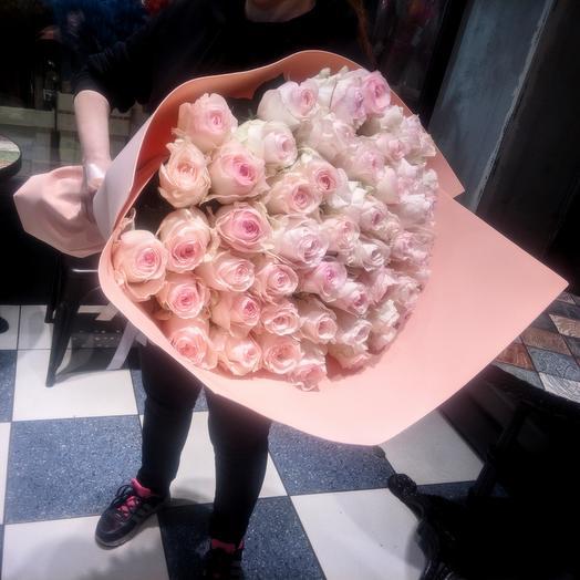 Signorita-Large bouquet of 51 roses 80 cm