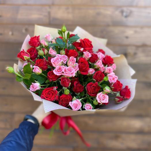 Букет «Красное и розовое»