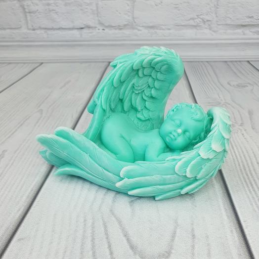 Мыло ручной работы - Малыш в крыльях большой (Тиффани)