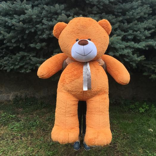 Плюшевий ведмедик 200 см карамельний