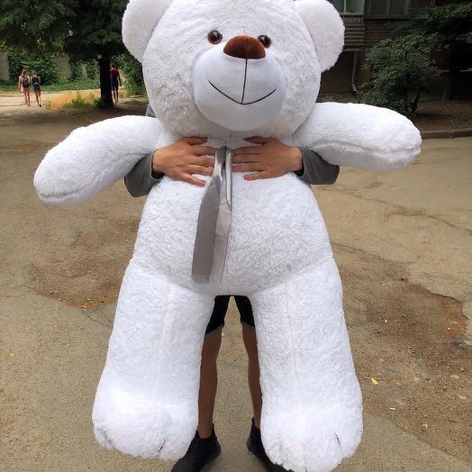 Плюшевый мишка 160 см белый