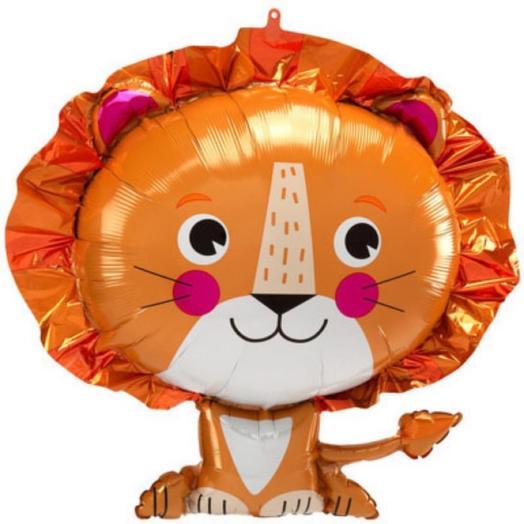 Шар фольгированный Лев