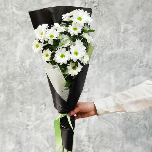 Кустовые хризантемы букет 3 шт