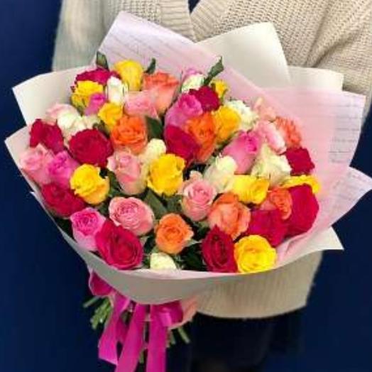 Букет микс из 51 роз