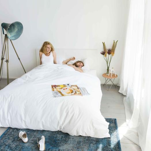 "Постельное белье ""Завтрак"" пододеяльник 200х220см, наволочка 50х70 (2 шт) SNURK Breakfast200x220cm"