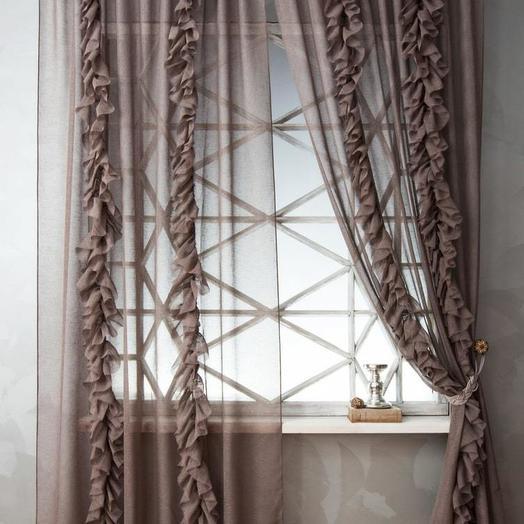 Комплект штор Иви Коричневый, 200х270 см - 2 шт