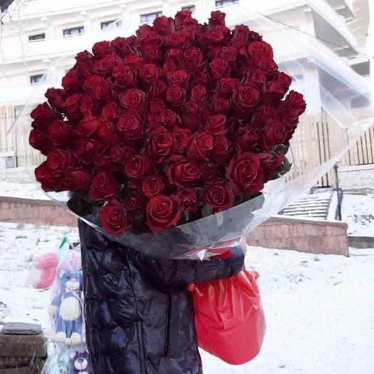 """101 роза """"Эксплоер"""" 100см"""