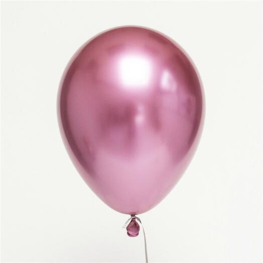 Шар с гелием - хром розовый
