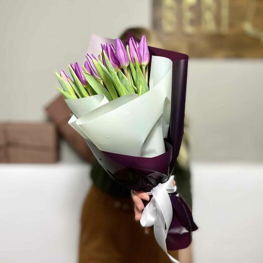 Букет тюльпанов «Виолет»