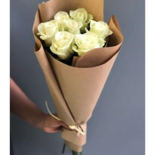 7 white roses in crafting