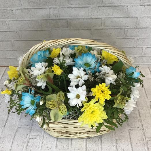 Корзина с цветами «Солнечный день»