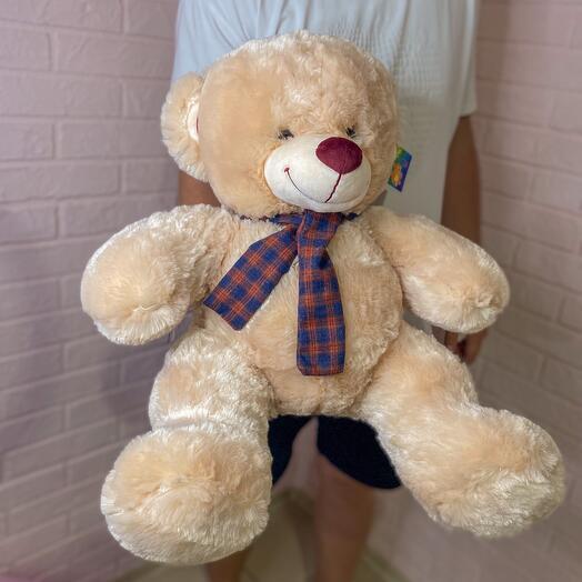 Мягкий плюшевый медведь 70 см