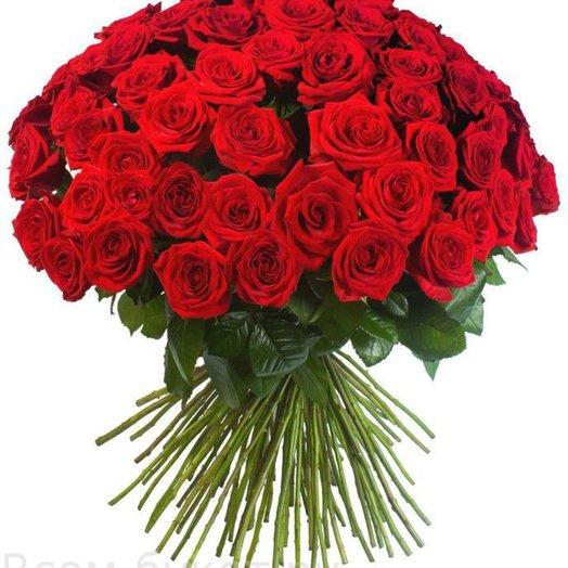 101 роза (цвет на выбор): букеты цветов на заказ Flowwow