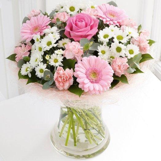 Букет Розовые цветы: букеты цветов на заказ Flowwow