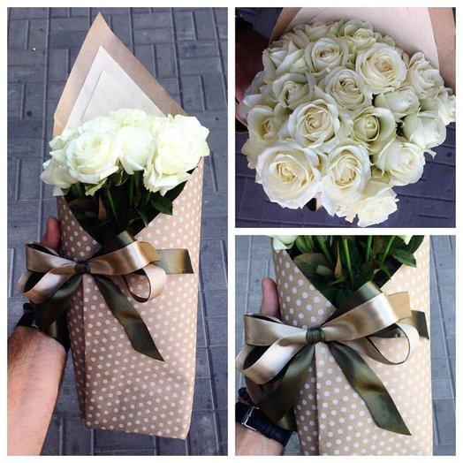 Конвертик роз 19 шт: букеты цветов на заказ Flowwow