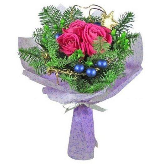 Букет Новогоднее настроение: букеты цветов на заказ Flowwow