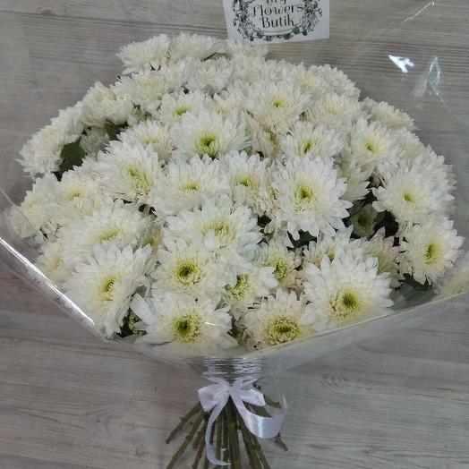 Bouquet Of 21 White Chrysanthemum Bush Flowers To Order Flowwow