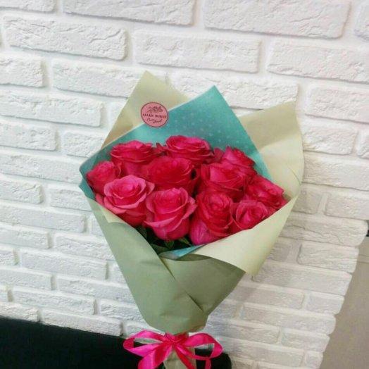 11 роз в кальке: букеты цветов на заказ Flowwow