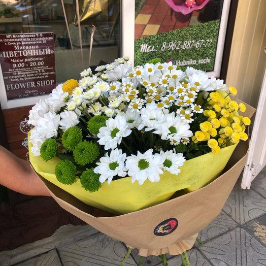 Ромашки спрятались : букеты цветов на заказ Flowwow