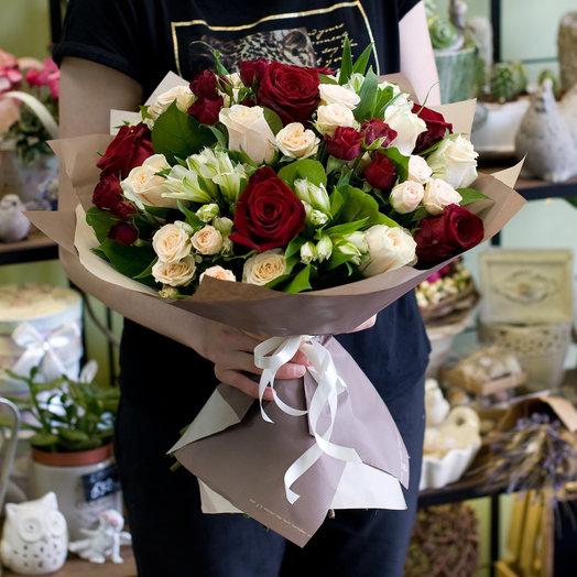 """Букет цветов """"Ромео и Джульетта"""": букеты цветов на заказ Flowwow"""