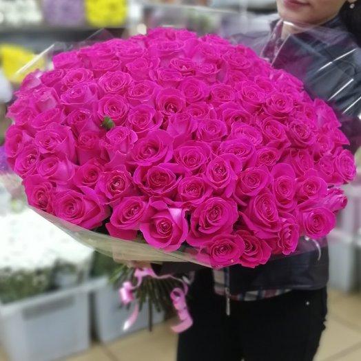 Букет из 101 эквадорских роз в ленте