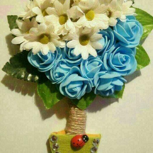 Сувенир магнит ручной работы: букеты цветов на заказ Flowwow