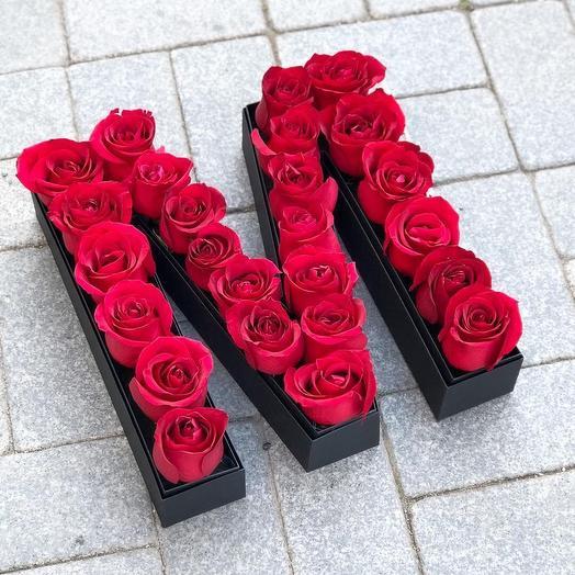 Буква: букеты цветов на заказ Flowwow