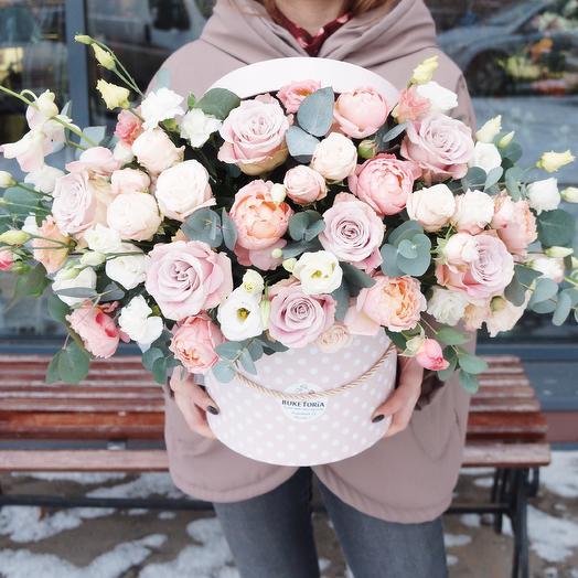 Композиция «Пионовидное разнообразие»: букеты цветов на заказ Flowwow