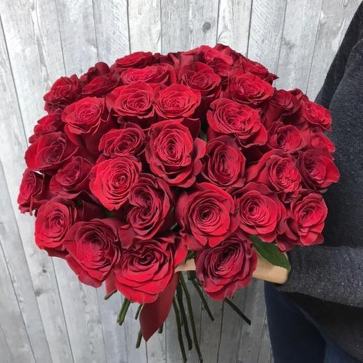 Букет из 33 красных роз 60 см: букеты цветов на заказ Flowwow