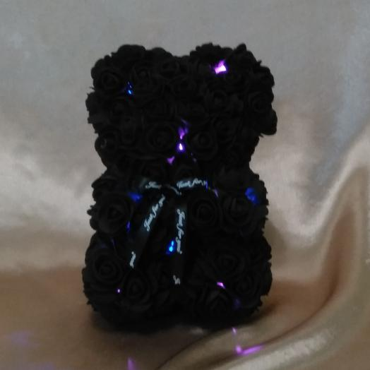 Мишка из роз светящийся: букеты цветов на заказ Flowwow