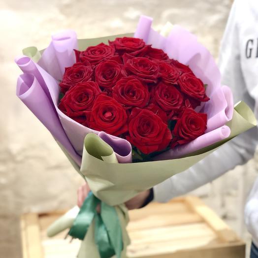"""Букет из роз """"Милая"""": букеты цветов на заказ Flowwow"""