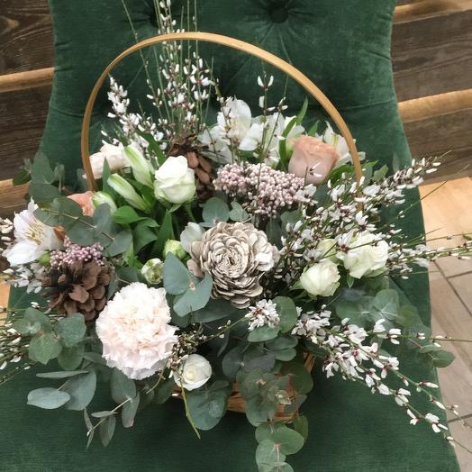 Лесная корзинка: букеты цветов на заказ Flowwow