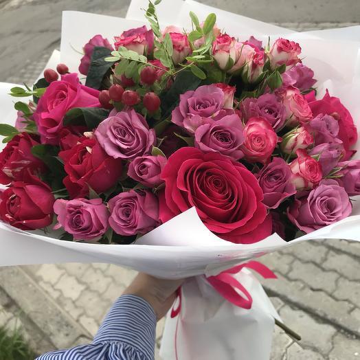 Букет «Нотки страсти»: букеты цветов на заказ Flowwow