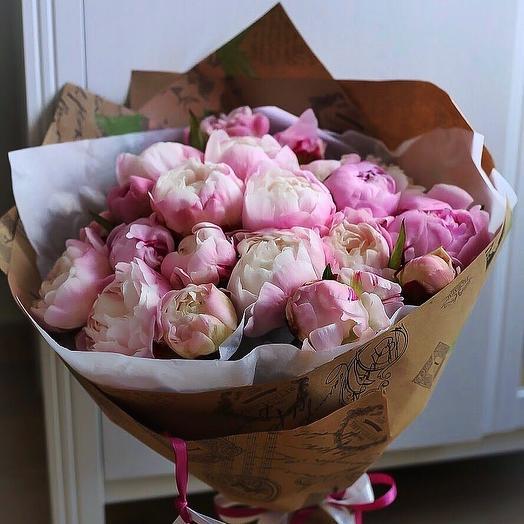 Букет 21 пион: букеты цветов на заказ Flowwow
