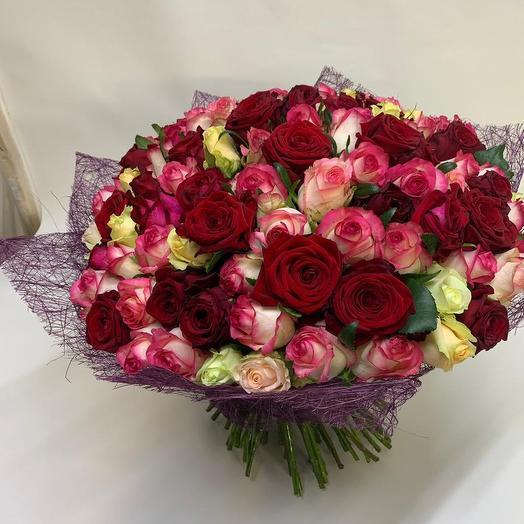 101 роза мих: букеты цветов на заказ Flowwow