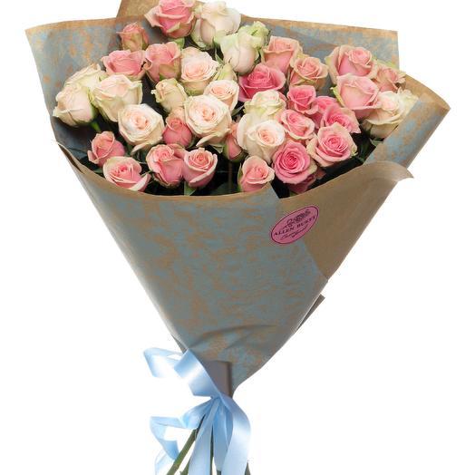 11 кустовых роз в крафте: букеты цветов на заказ Flowwow