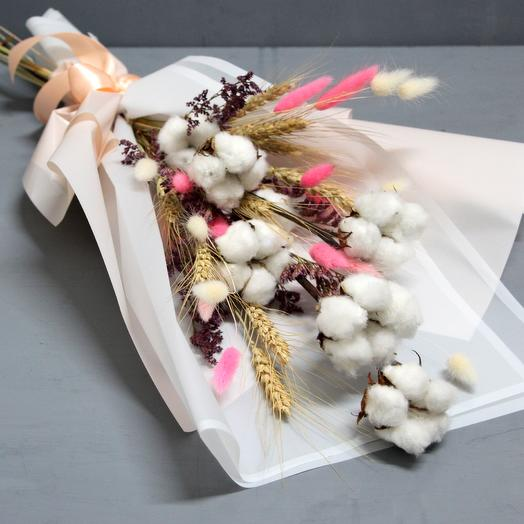 "Букет ""Белый хлопок"": букеты цветов на заказ Flowwow"