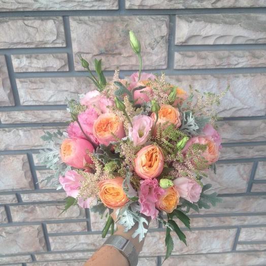 Свадебный букет «Кремовое кружево»: букеты цветов на заказ Flowwow