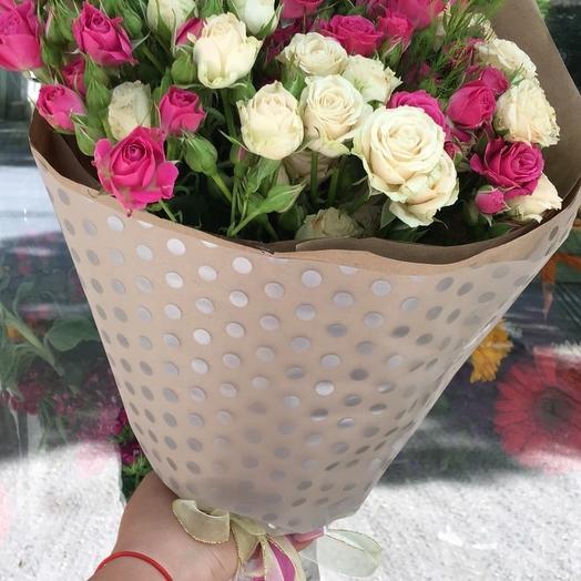 """Букет """"Нежность"""" из кустовой розы: букеты цветов на заказ Flowwow"""