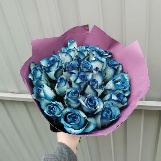 25 синих роз: букеты цветов на заказ Flowwow